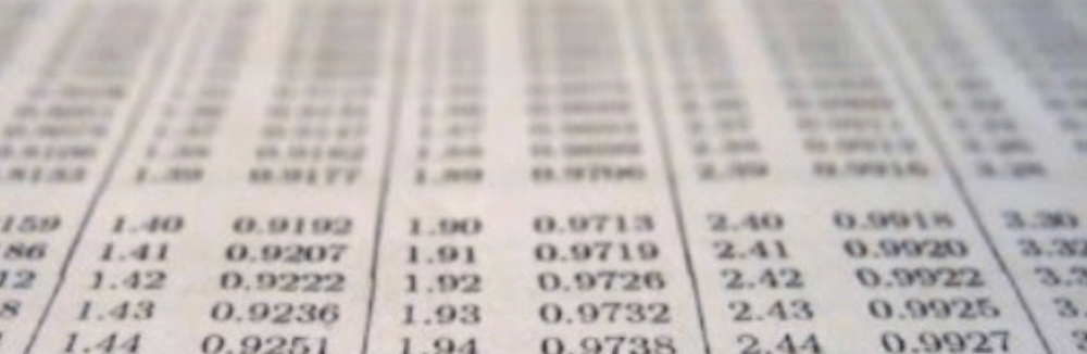 various numbers printed onto a chart